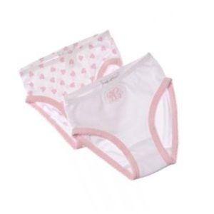 💕🆕 babycottons ♡ Girl's 2-Pack Heart Panties ♡